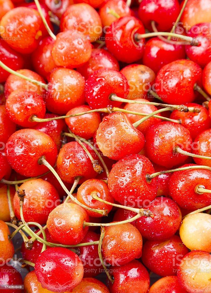 sweet cherries royalty-free stock photo