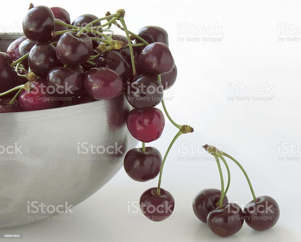 Cerezas dulces foto de stock libre de derechos