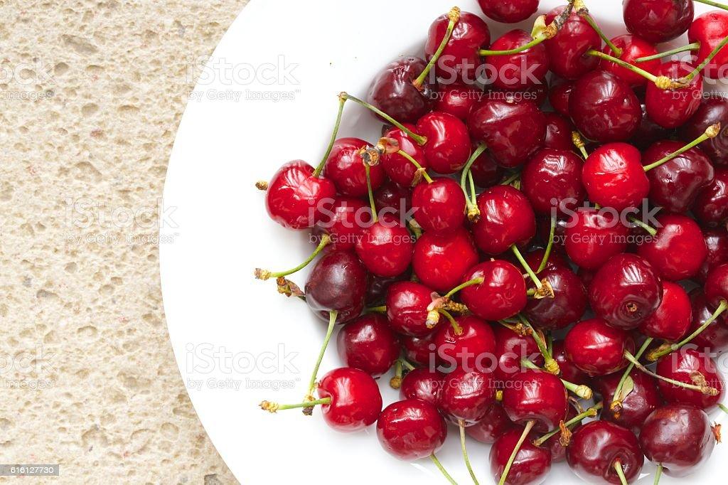 Sweet cherries.Closeup stock photo