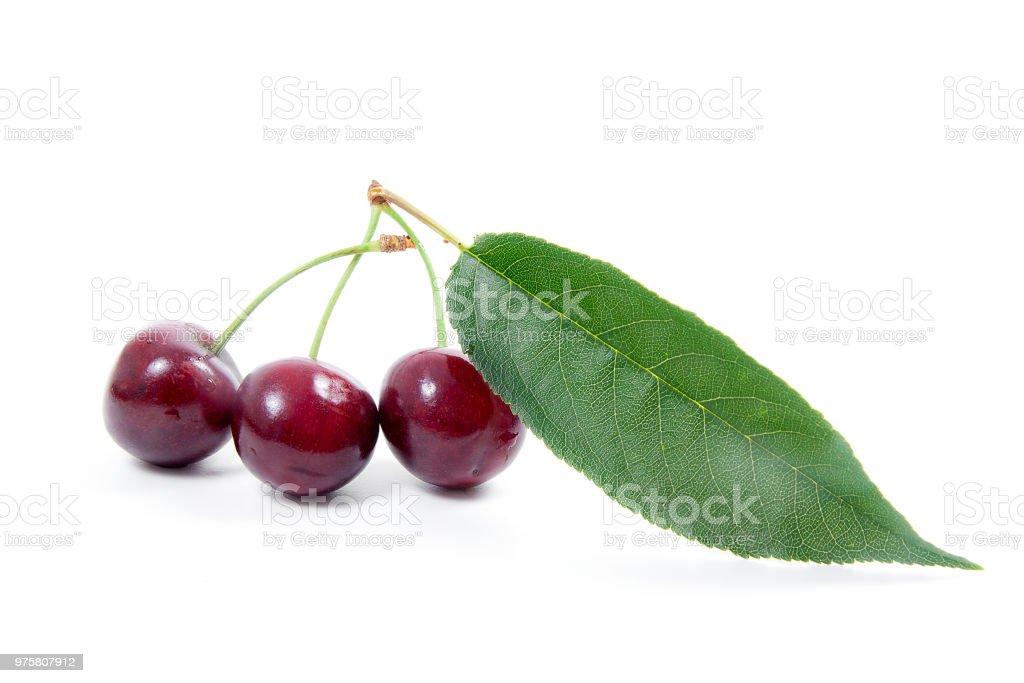 Sweet Cherry isoliert auf einem weißen Hintergrund. - Lizenzfrei Beere - Pflanzenbestandteile Stock-Foto