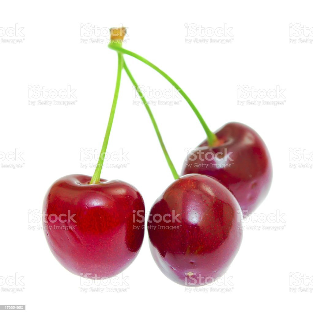Sweet cherry isolated on white background royalty-free stock photo
