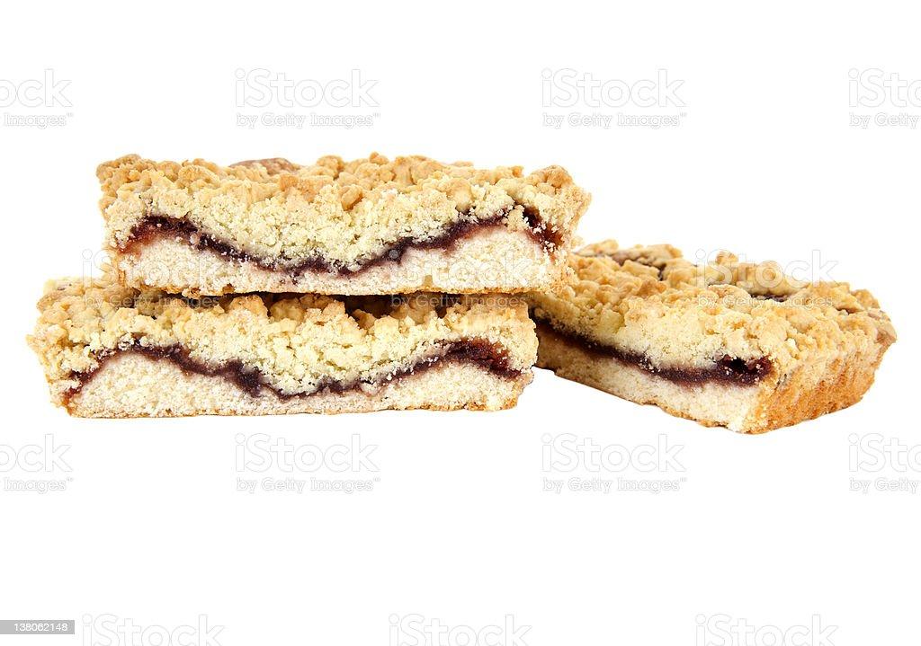 Sweet Cherry Pie isolated white background stock photo