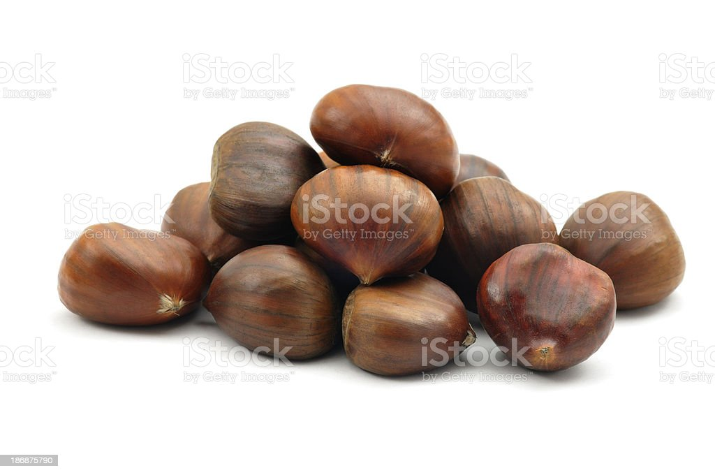 Sweet Chestnut Pile royalty-free stock photo