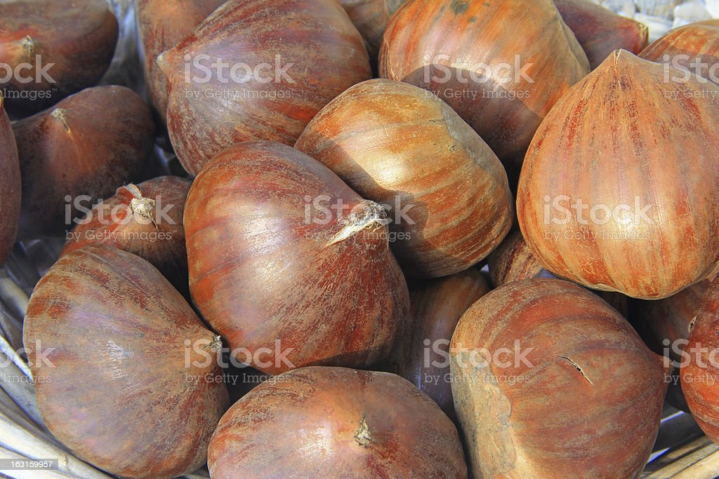 Sweet chestnuts royalty-free stock photo