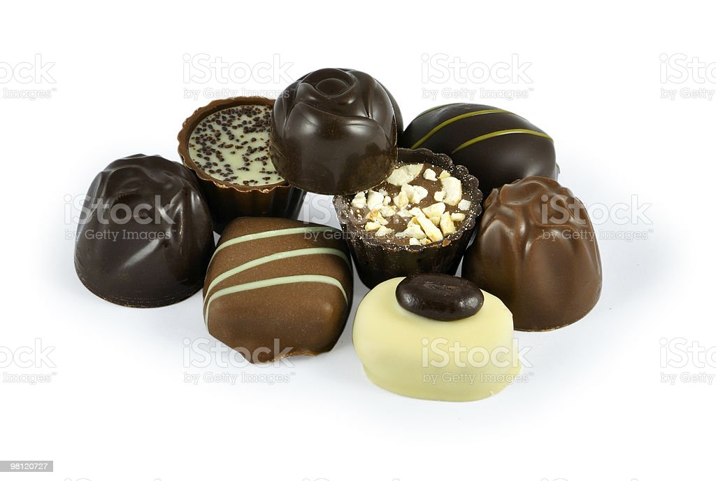 Sweet chocolate candies royalty-free stock photo