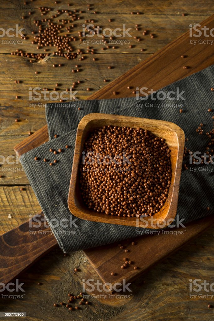 Sweet Chocolate Covered Chia Seeds royalty-free stock photo