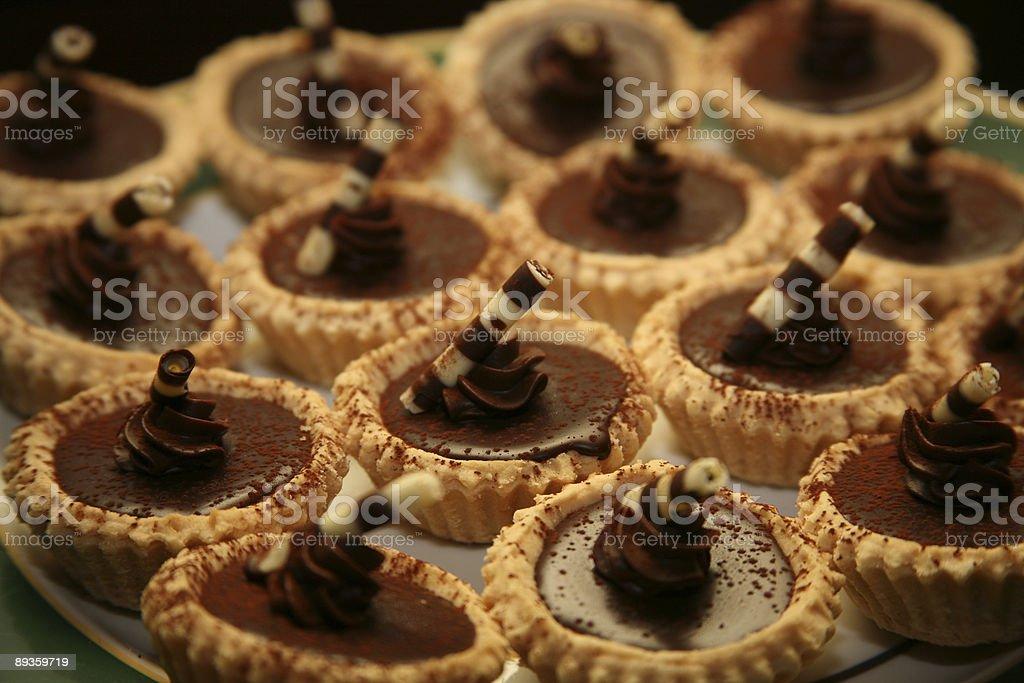 Dessert Dolce al cioccolato Gourmet foto stock royalty-free