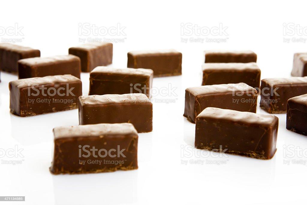 sweet chocolates on white stock photo