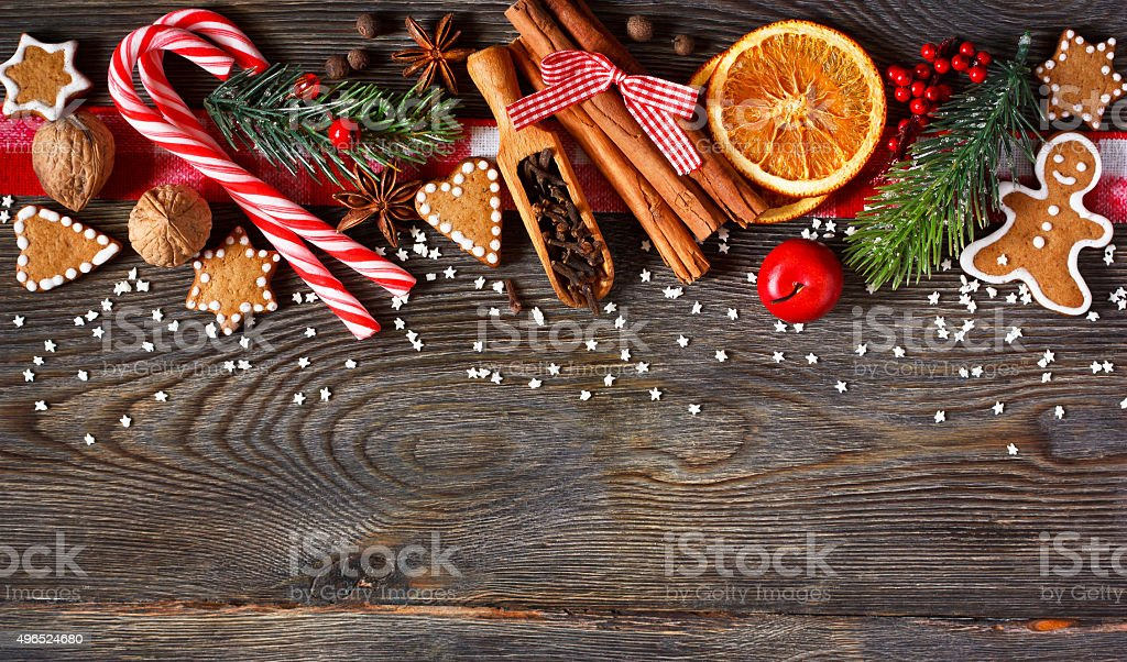 Sweet Christmas background. stock photo