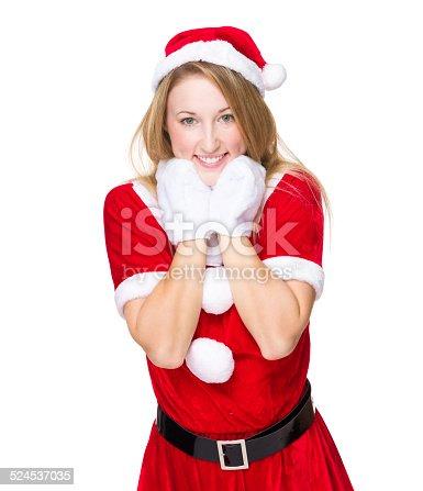 istock Sweet Christmas girl 524537035