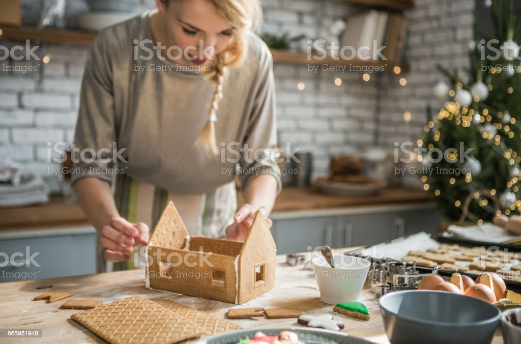 Sweet Christmas tradition stock photo