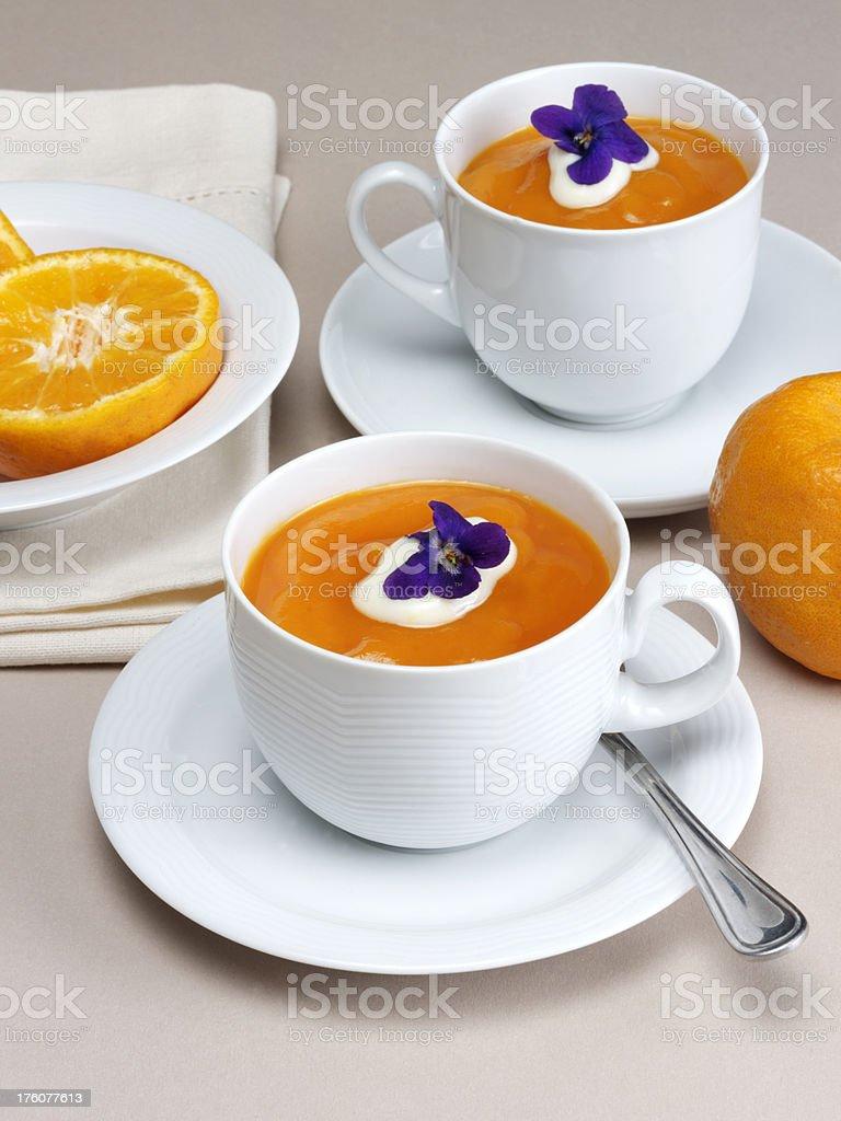 Sweet citrus soup stock photo