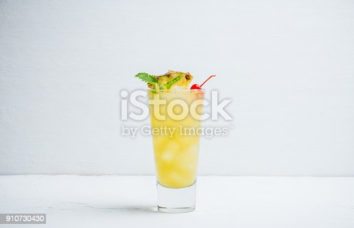 istock Sweet cocktail with pineapple and rum 910730430