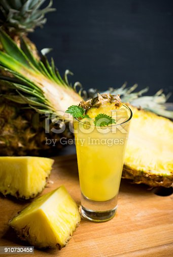 istock Sweet cocktail with pineapple and rum 910730458