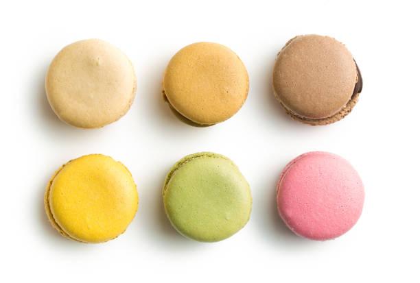 sweet colorida de macarons - macaroon - fotografias e filmes do acervo