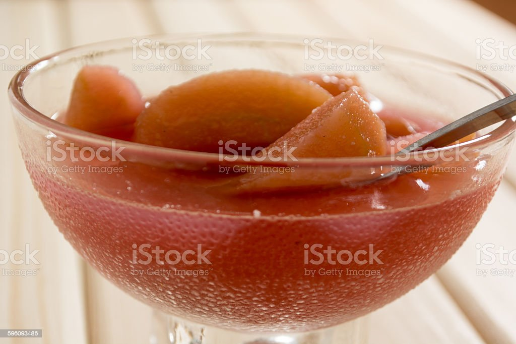 Sweet compote of dried apple royalty-free stock photo