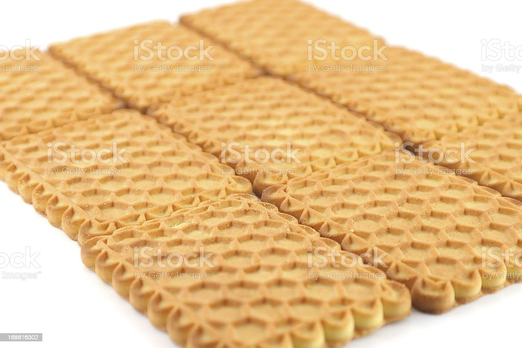 Sweet cookie over white royalty-free stock photo