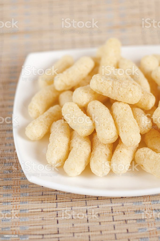 Sweet corn flakes - Children food royalty-free stock photo