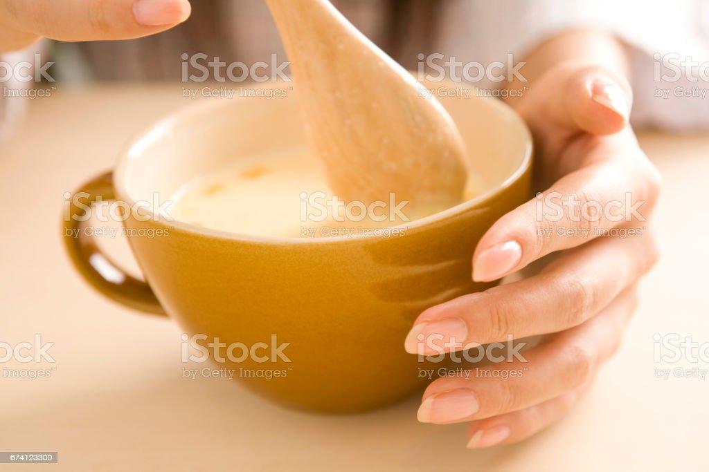 甜玉米湯 免版稅 stock photo