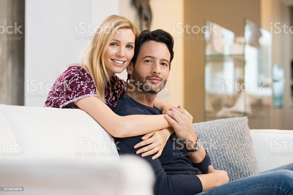 Sweet couple in love stock photo