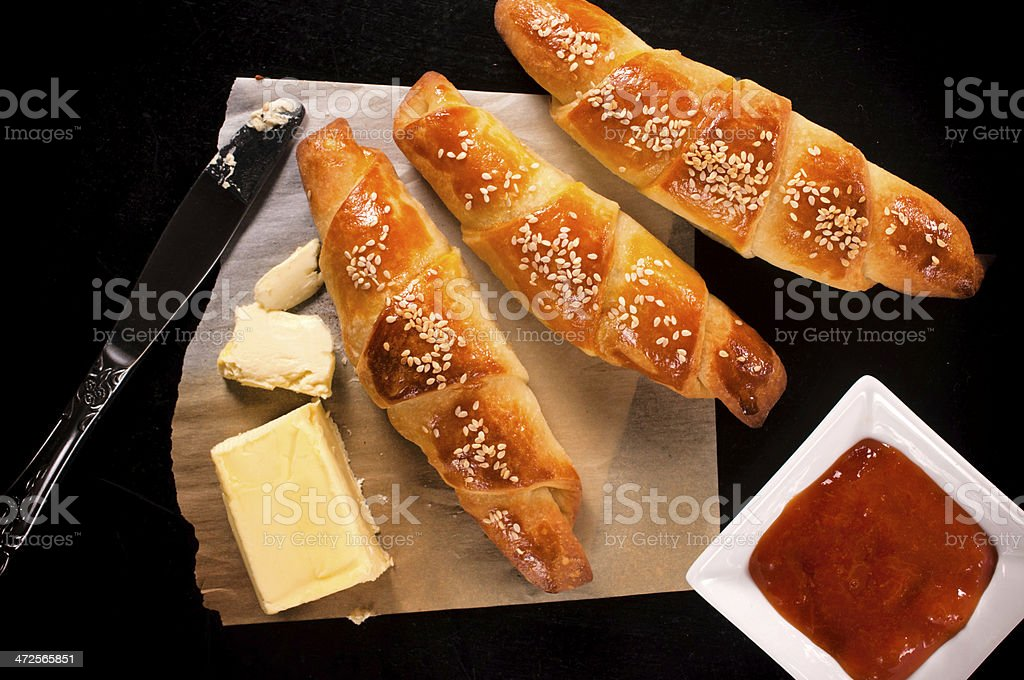Sweet croissants royalty-free stock photo