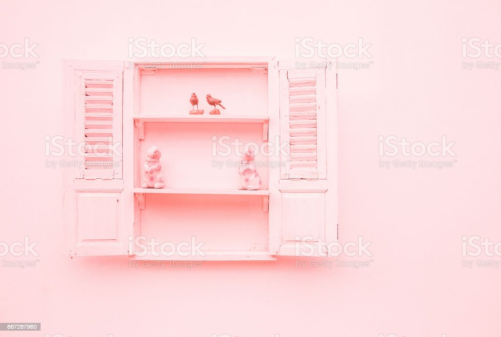 Süße niedliche offene fenster innenarchitektur vintage pastell