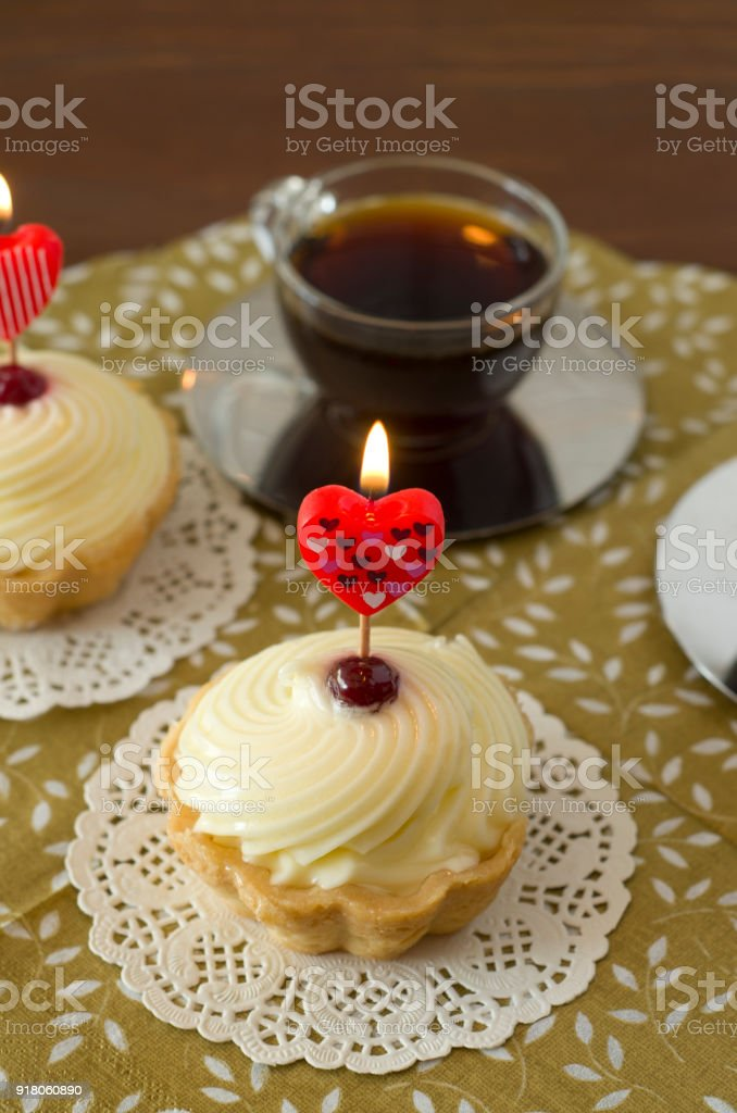 Sweet Delicious Party Muffins With Coffee Stock Photo More