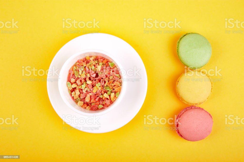 Sweet Dessert Macaron or macaroon zbiór zdjęć royalty-free