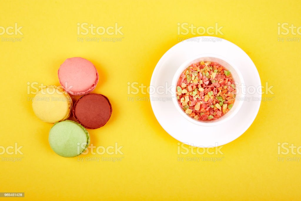 Sweet Dessert Macaron or macaroon royalty-free stock photo