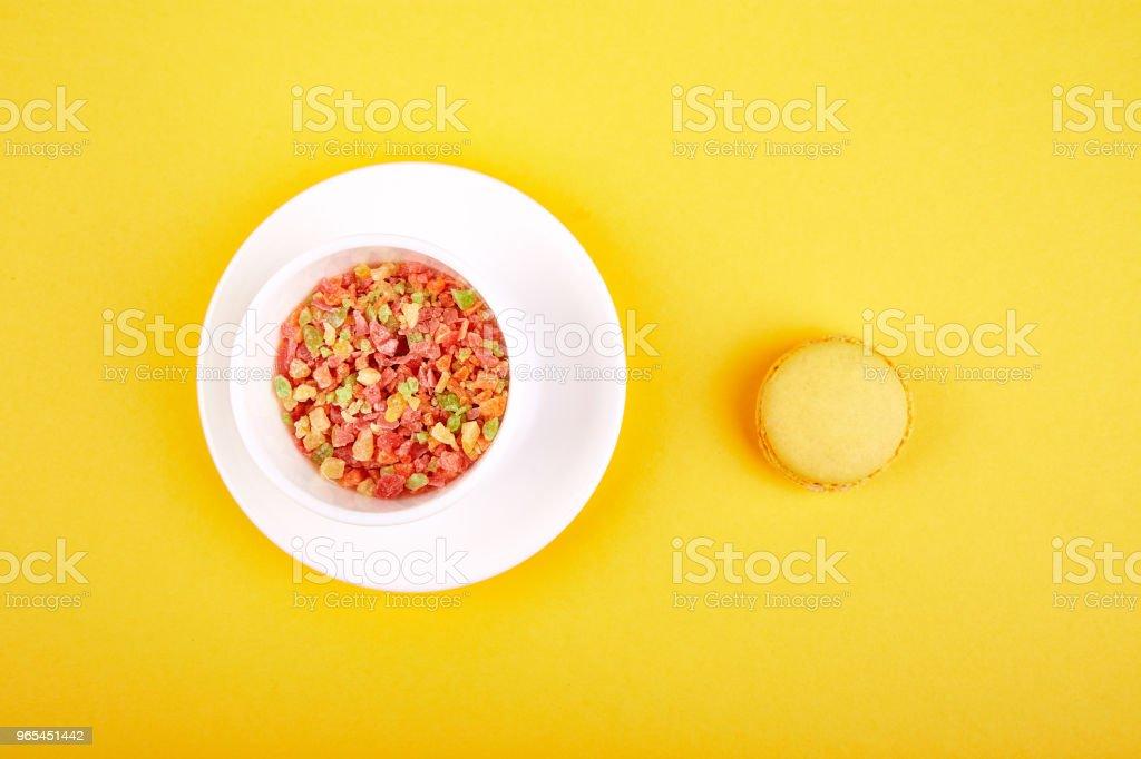 달콤한 디저트 마카롱 또는 마 카 롱 - 로열티 프리 개념 스톡 사진