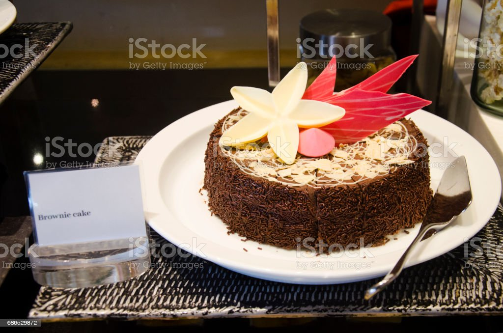Sweet dessert snack and Cake line in food buffet royaltyfri bildbanksbilder