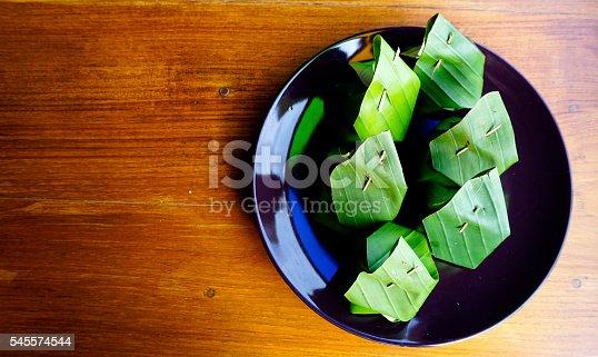 sweet dessert sticky rice thai custard , Thailand