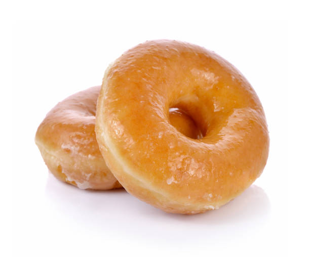 sweet donut on white background - bombolone foto e immagini stock