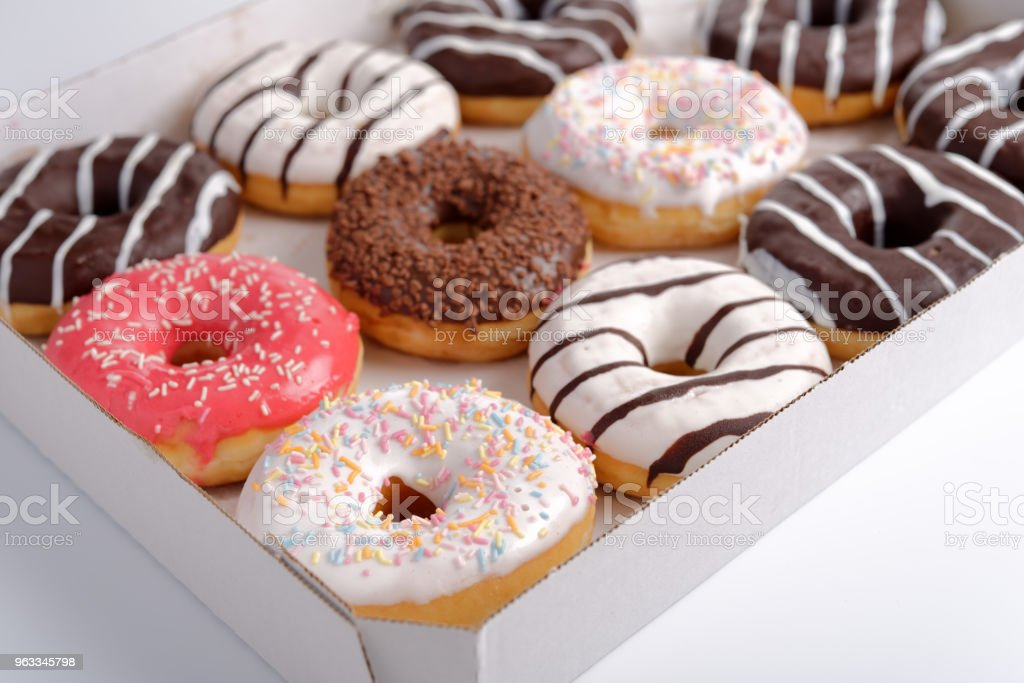 Sweet donuts stock photo