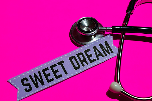 istock Sweet Dream on the paper with medicare Concept 1047330066