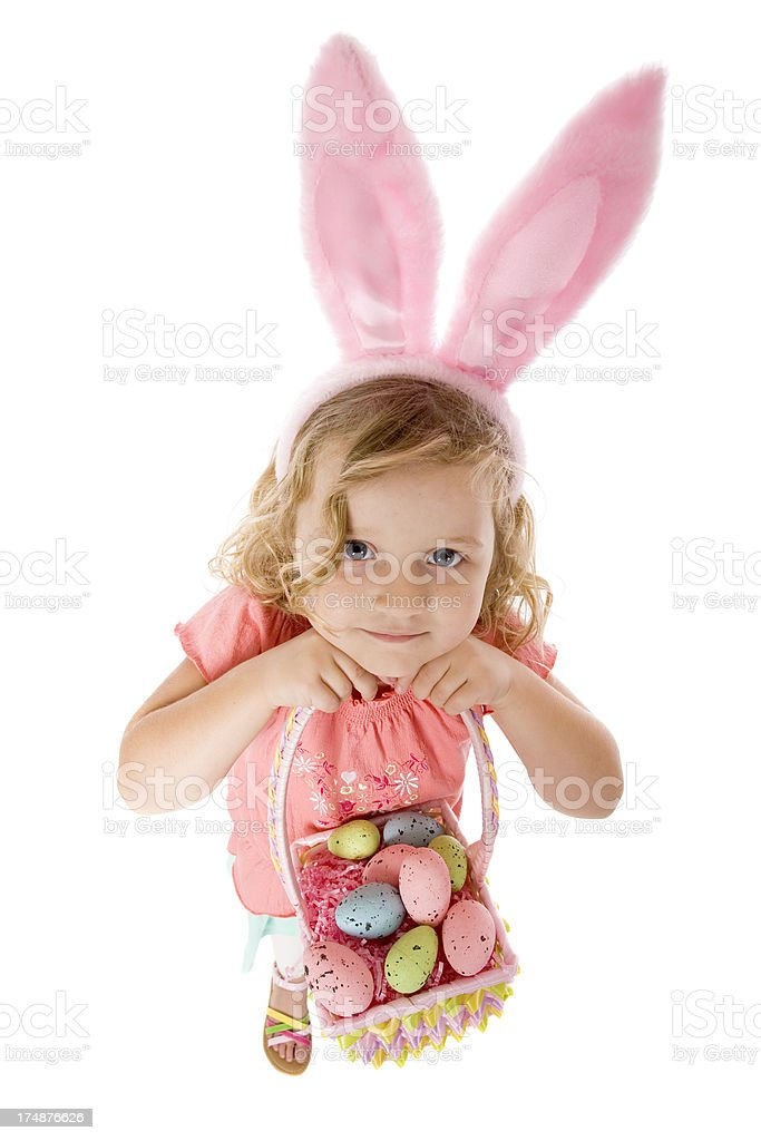 Sweet Easter Bunny Child royalty-free stock photo