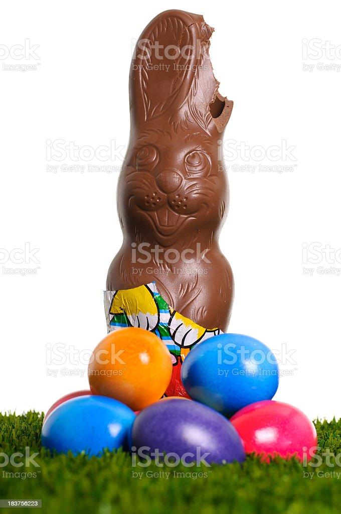 Sweet Easter bunny - damaged stock photo