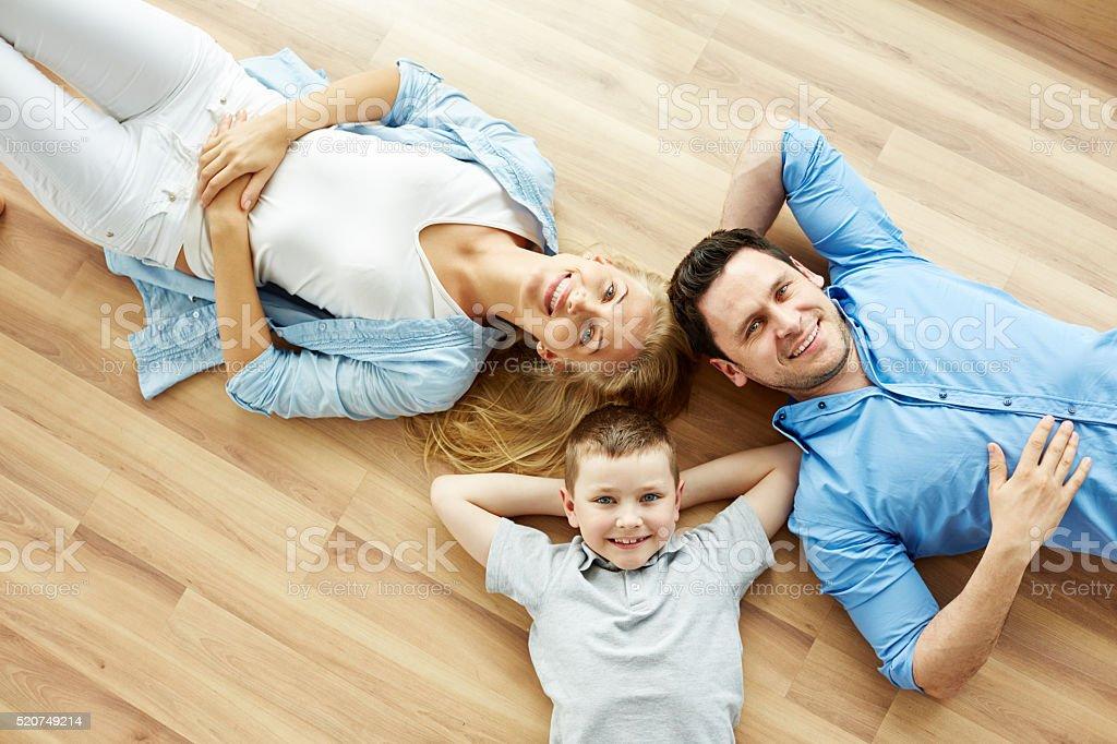 Sweet family relax stock photo