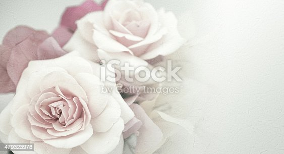 istock Sweet flowers in vintage color style on mulberry paper texture 479323978