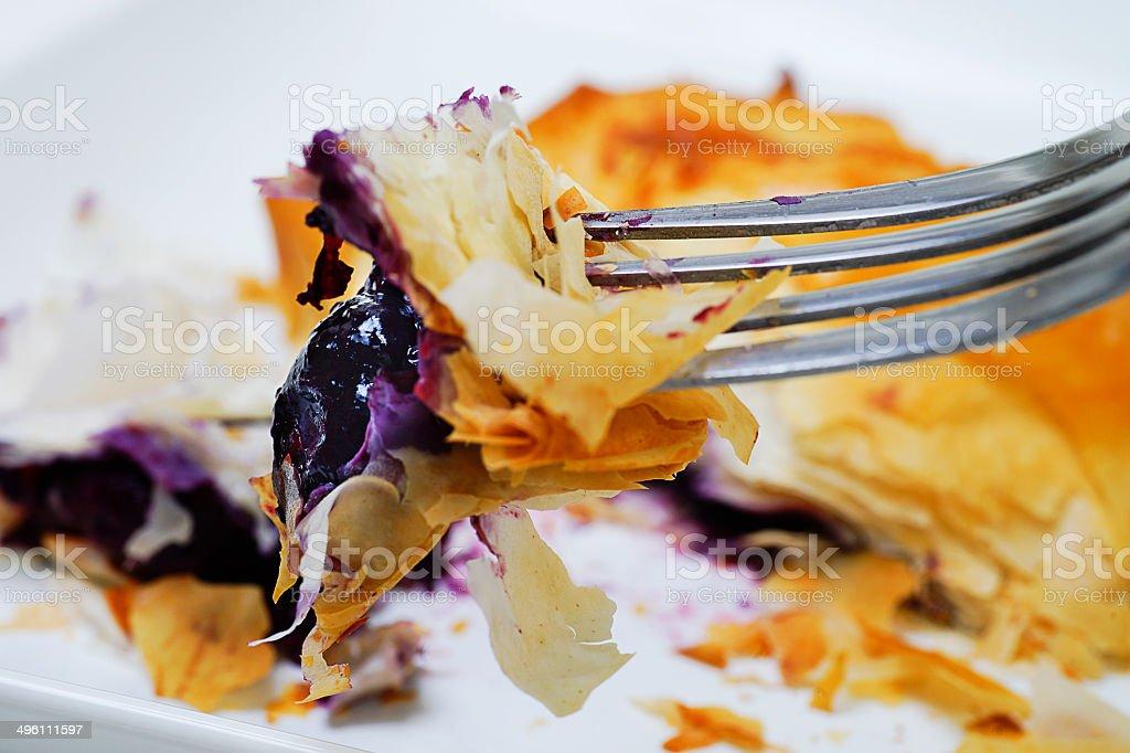 Sweet Food: Blueberry Tuirnover stock photo