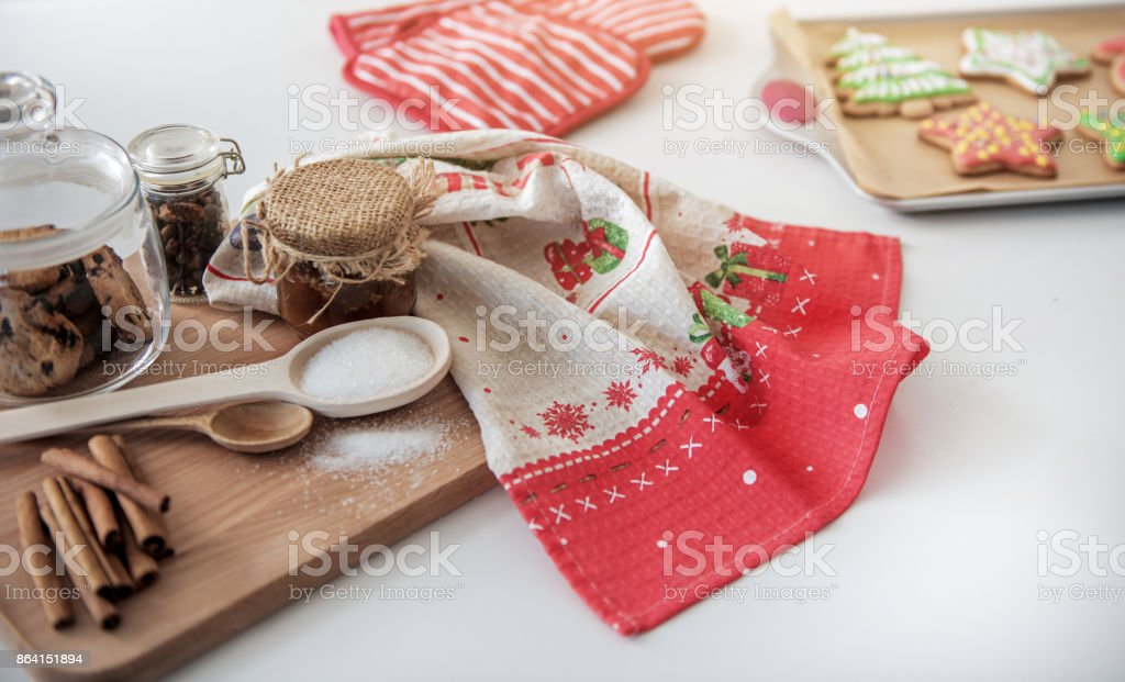 Sweet food ingredients for baking holiday pastry royalty-free stock photo