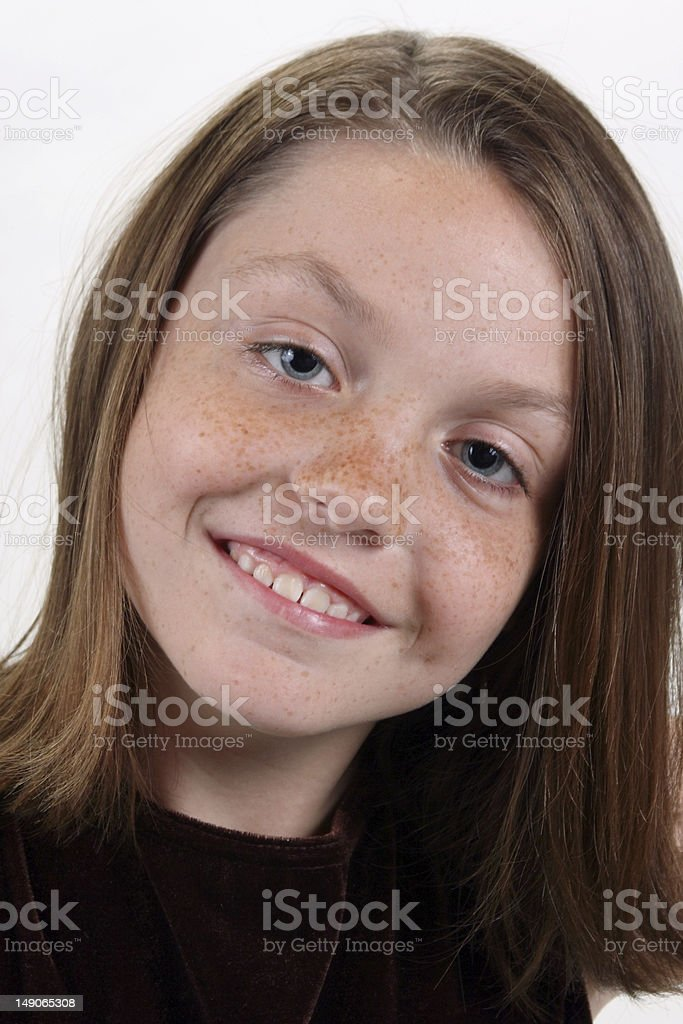 Sweet Freckles royalty-free stock photo
