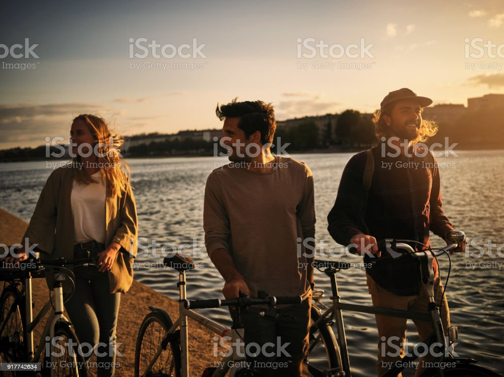Sweet friendships refreshes the soul stock photo