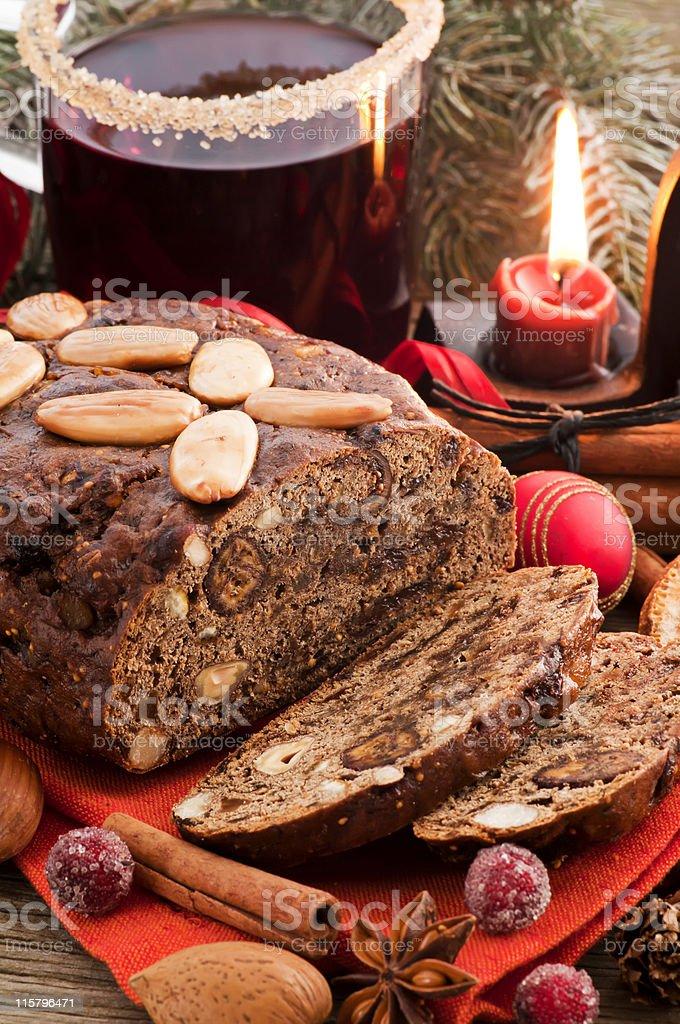 Sweet Fruit Bread stock photo