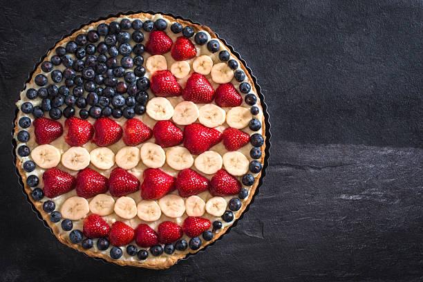 Sweet fruit pie stock photo