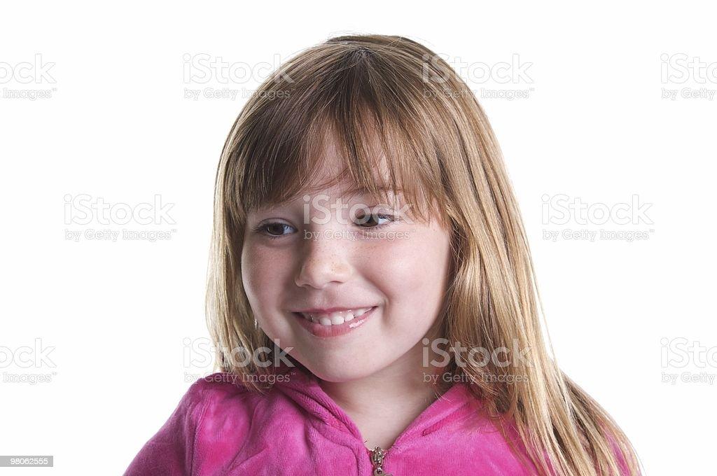 Sweet Girl Isolated on White royalty-free stock photo