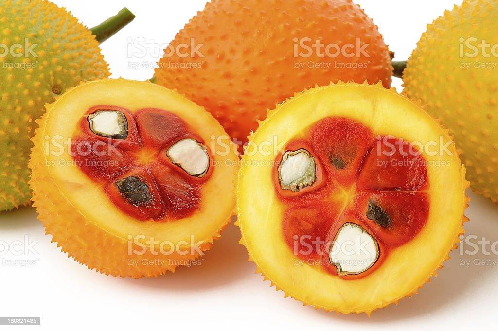 sweet gourd on white background royalty-free stock photo