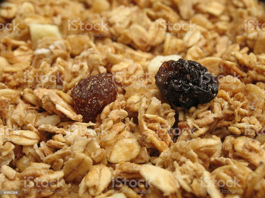 Sweet Granola with Raisins royalty-free stock photo