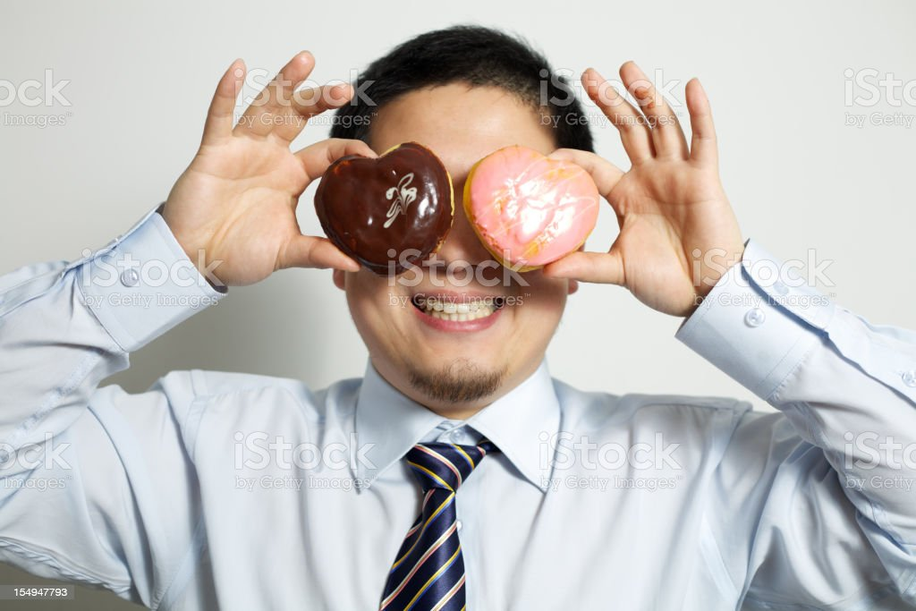Sweet heart of a businessman royalty-free stock photo
