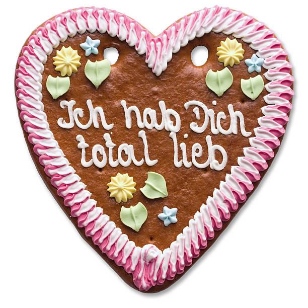 sweet heart (with clipping path - lebkuchenherzen stock-fotos und bilder